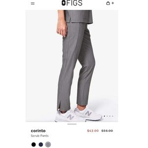 Figs scrub pants in graphite grey